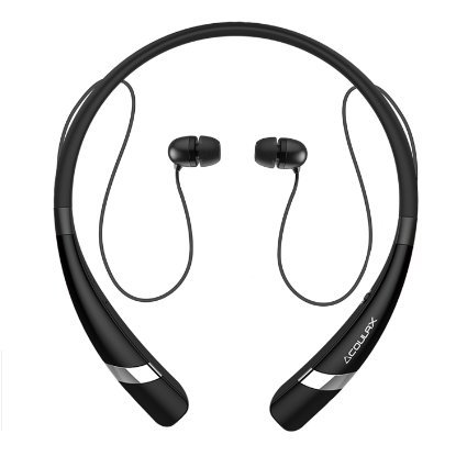 Coulax CX04 Bluetooth Neckband Headset Wireless In-ear Sports Running Earbuds Built in Mic