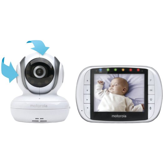 Motorola MBP36S Remote Wireless Video baby Monitor With 3.5 Inch Color LCD Screen