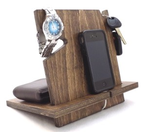 Wooden iPhone Android Docking Station