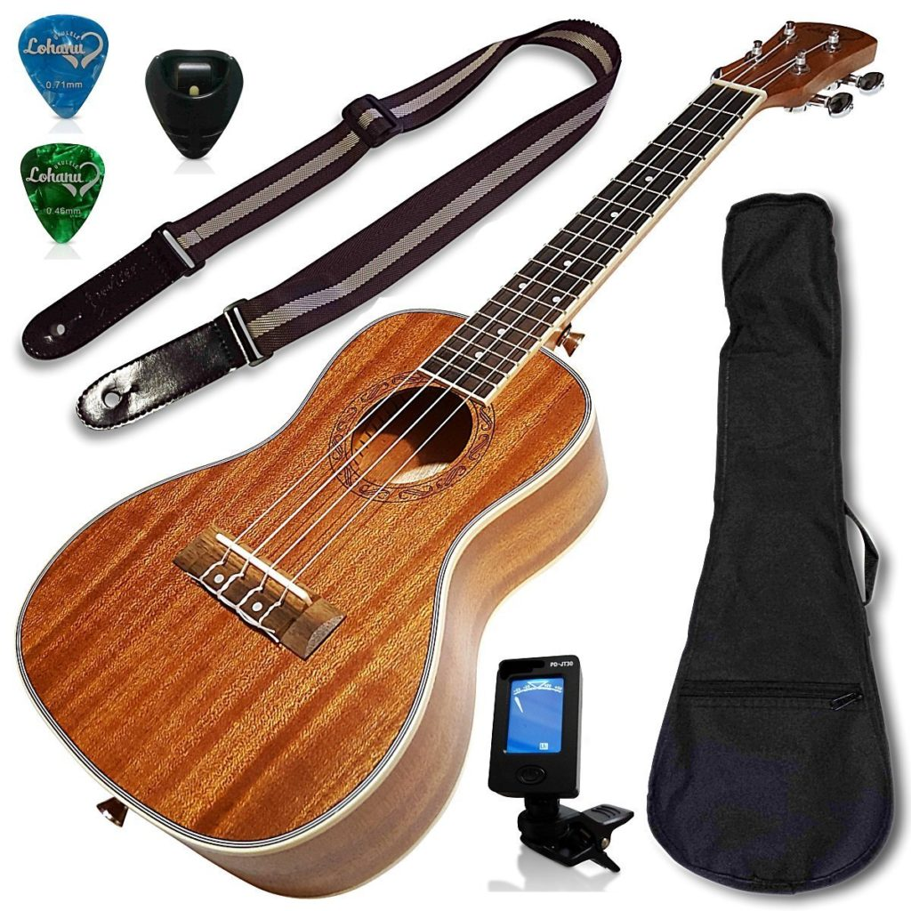 Ukulele Concert Size Bundle From Lohanu
