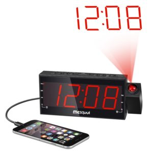 mesqool-digital-dual-alarm-fm-dimmable-projection-clock-radio-1-8-inch-led-display-with-usb-chargingsnoozesleep-timerbattery-backup-functions